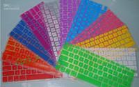 teclado macbook impermeable al por mayor-Al por mayor - Cubierta de protector de la caja del Keyboard del silicón del ordenador portátil de la piel para MacBook impermeable a prueba de polvo 12 c