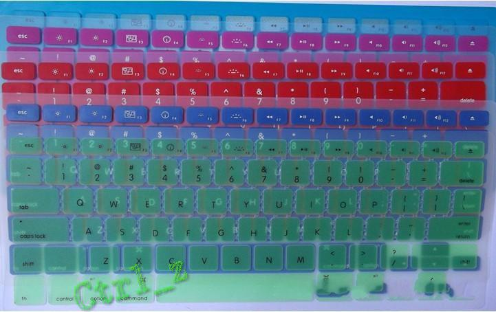Al por mayor - Cubierta de protector de la caja del Keyboard del silicón del ordenador portátil de la piel para MacBook impermeable a prueba de polvo 12 c