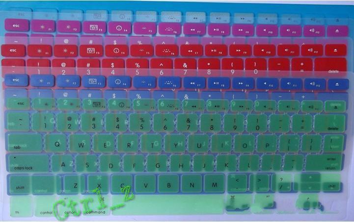 Großhandel - Laptop Silikon KeyBoard Case Protector Cover Haut Für MacBook wasserdicht staubdicht 12 c