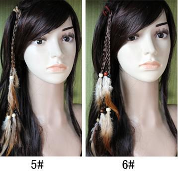 hotsale 수제 크로 셰 뜨개질 머리띠 머리 깃털 확장 머리 클립 / 무료 배송