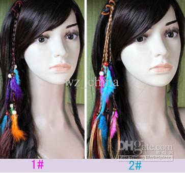 Hotsale handgemachte Haar-Stirnband-Borten-Haar-Schmucksache-Feder-Verlängerungs-Haar-Klipps für Frauen arbeiten neues / um