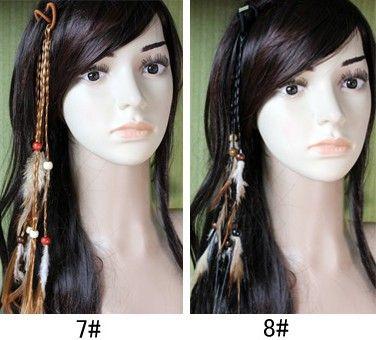 Hotsale Handmade Cabelo Headband Trança Extensões de Cabelo Jóias Extensões de Cabelo Grampos Para As Mulheres Moda Nova 10 pçs / lote