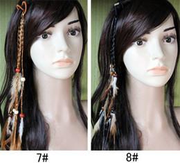 Canada Handmand tresse bandeau plume extensions pinces à cheveux 20 pcs / lot hotsale Livraison gratuite cheap extension headband Offre