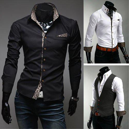 2017 Mens Casual Shirt Mens Designer Shirt Men White Shirt Dress ...