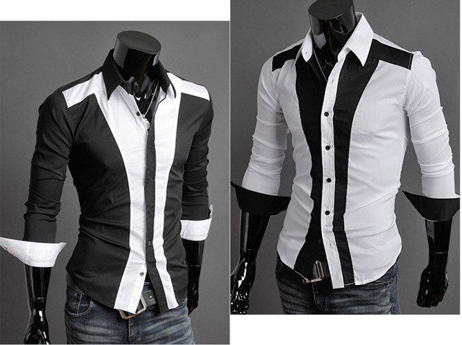 2017 Mens Handsome Shirts Men White Shirt Fashion Casual Designer ...