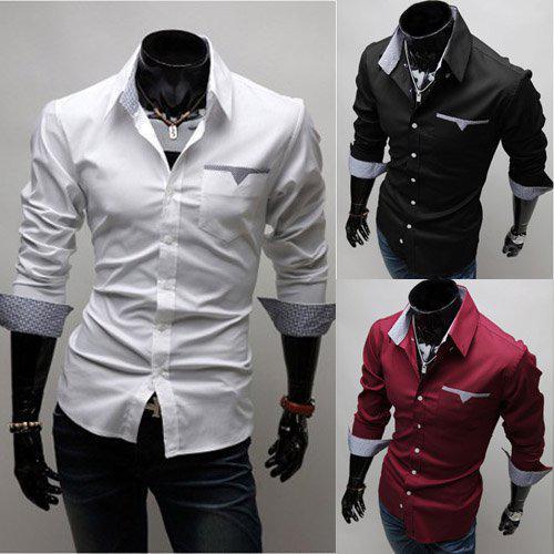Best Mens Long Sleeve Shirts Men White Shirt Men Slim Shirt ...
