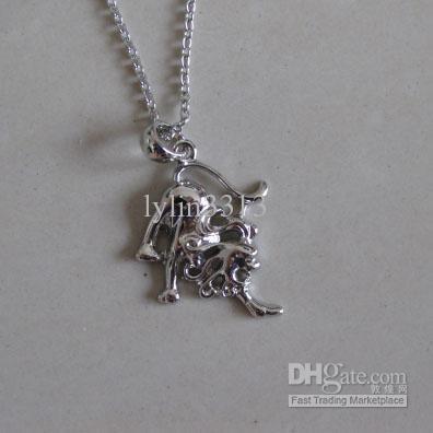 Livraison gratuite Usine Vente Horoscope Zodiaque Collier Rhodium Plaqué 12 Signes du Zodiaque Occidental Distinguer Charmes Chaude