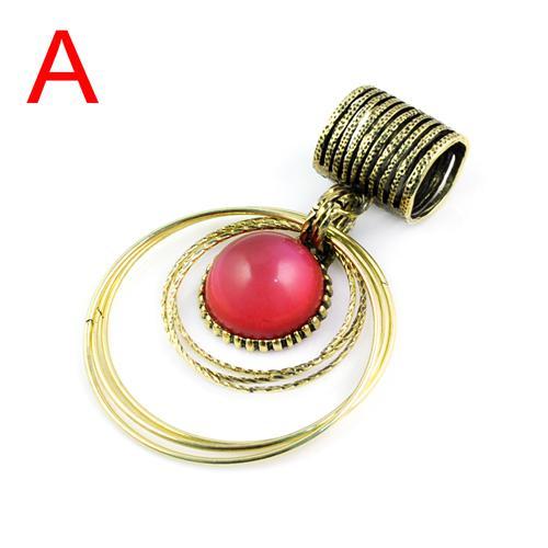 Pendentifs de grosses pierres précieuses pour les écharpes de bijoux, 7colors, PT-391
