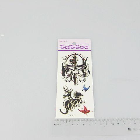 / Tatouages Temporaires Autocollants De Tatouage Pour Body Art Peinture Étanche Mix Mélange Designs 170 * 100 mm C1-27