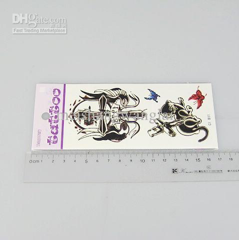 10 st / massa temporära tatueringar Tattoo klistermärken för kroppskonstmålning Vattentät blandningsdesign 170 * 100 mm C1-27