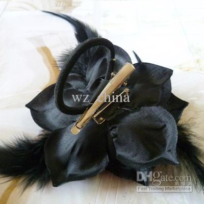 Ny anländer !! Broschstift smycken blomma hårklämma kungliga fjäder hårklipp blomma broscher