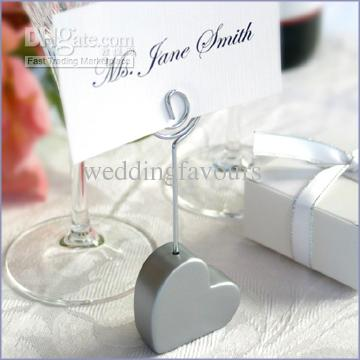 ! Silver Heart Shape Place card Holder Wedding Favors,place card clip favors,