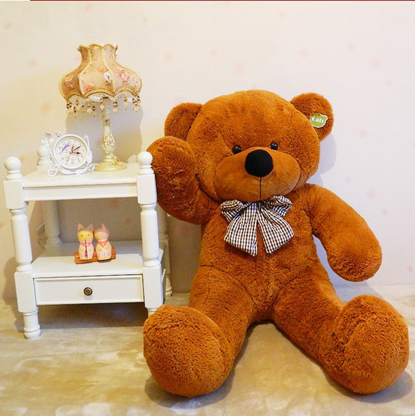 "free shipping 71"" TEDDY BEAR STUFFED LIGHT BROWN GIANT JUMBO size:180cm"