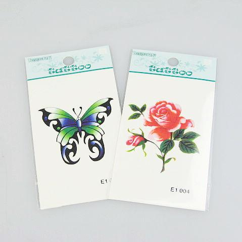20 unids / lote tatuajes temporales tatuaje pegatinas para la pintura del arte corporal diseños impermeables de la mezcla 170 * 100 mm E1-47
