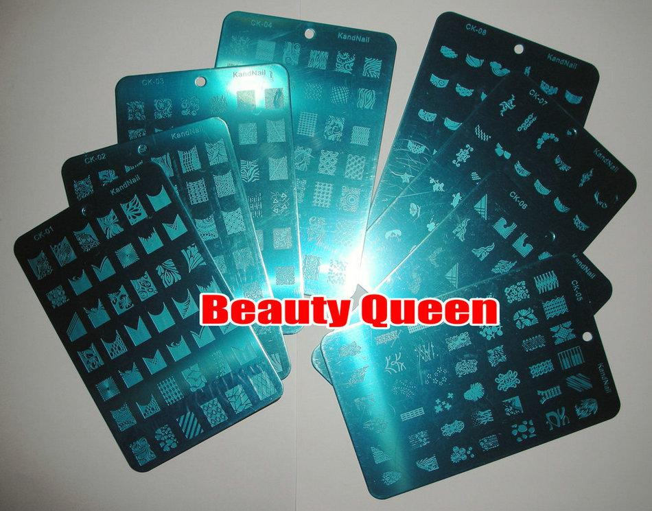 8Style 336Design FOR CHOOSE XL Image Stamp Stamping Plate French Nail Art BIG Print Template Stencil