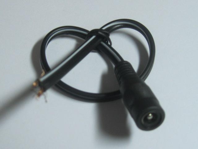 DC 전원 잭 여성용 커넥터 5.5x2.1mm 코드 케이블 25cm 18AWG
