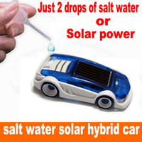 Wholesale Solar Water Toy - New energy toy Solar and Salt Water Hybrid Car Solar Power Toy Salt Water toy car For Children Gift