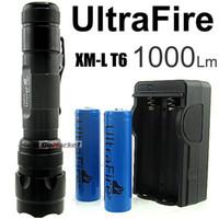 Wholesale Ultrafire Cree T6 - 1PC Ultratfire WF- 502B 5 Mode 1000 Lumens CREE XM-L LED Flashlight 18650 Battery