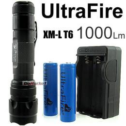 Wholesale Dive Flashlight Rechargeable Battery - 1PC Ultratfire WF- 502B 5 Mode 1000 Lumens CREE XM-L LED Flashlight 18650 Battery