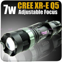 1PC SA-9 Flashlight 250 Lumens 7W CREE Q5 LED Focusable aluminium zoomables + ETUI