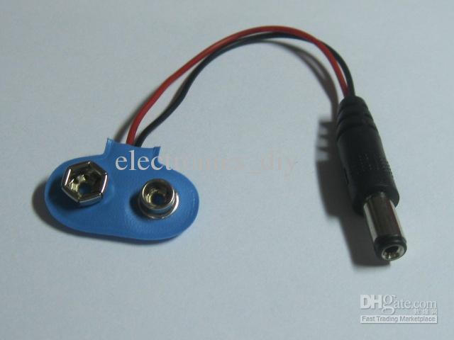 10 stks 5.5x2.1mm DC Power Plug Male To Battery Clip Connector gesp kabel 10cm 0.10m