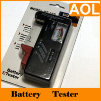Wholesale BT Portable Digital Universal battery checker tester AA C D V Button H1274 black