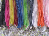 Wholesale Assorted Color Ribbons - Wholesale 17-19inch Adjustable assorted Color (10 color) ribbon necklace cord 100pieces lot