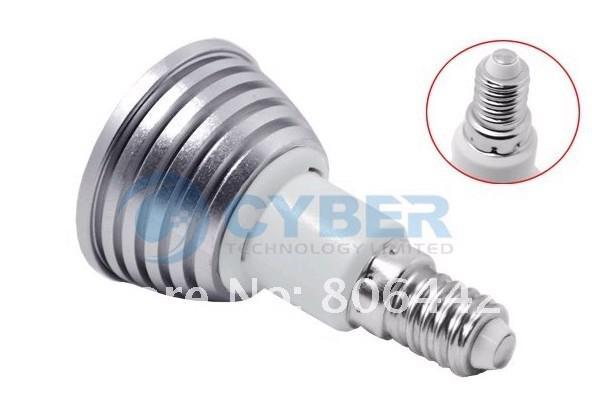Högkvalitativ gratis frakt 3W E14 / E27 / MR16 / GU10 RGB fjärrkontroll LED-lampa 16 Färgpunktsljus