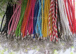 Wholesale3mm 17-19inch justierbare sortierte Farbe Faux umsponnenes lederne Halskettenschnur 100pieces / lot von Fabrikanten