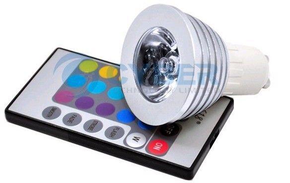 wholesale cheap 3W GU10 E14 E27 MR16 RGB +IR Remote Control LED Bulb Light via FEDEX