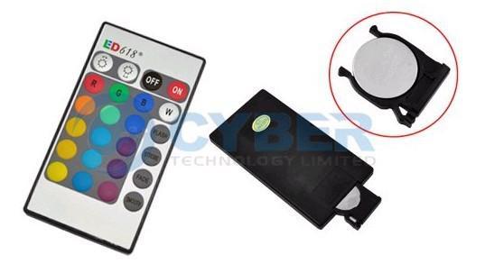 Wholesale安い3W GU10 E14 E27 MR16 RGB + IRリモコンLED FEDEXを介した電球ライト