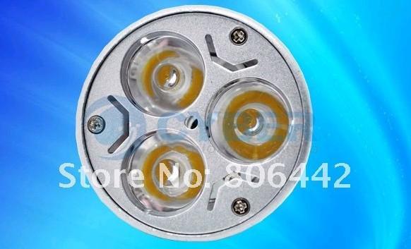 Högkvalitativ GU10 3X1W högkraft varm vit LED-lampa Dimbar Spot Light Lamp Energibesparing av DHL Ship