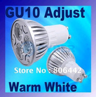 Wholesale 3x1w led lamp resale online - High quality GU10 x1W High Power Warm White LED Bulb Dimmable Spot Light Lamp Energy Saving by DHL ship