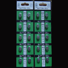 Wholesale Lr736 Button Cell - Free shipping!1.5V Button cell LR41 LR736 AG3 Calculator battery watch battery 10pcs card 200pcs lot