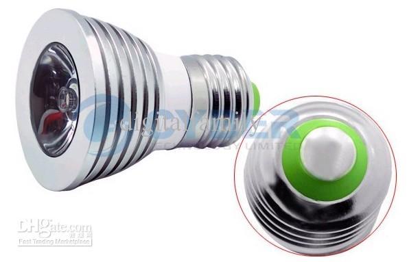 Billiga helt ny LED 3W RGB Spotlight E27 E14 GU10 Fjärrkontroll RGB 16 Färger Flash LED Spot Light Bulb lampa