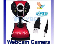 30.0 Mega 6 LED USB Webcam Webcam Câmara Web com microfone