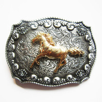 JEAN'S FRIEND New Original Western Cowboy Rodeo Cavalo Double Color Belt Buckle Gurtelschnalle Boucle BUCKLE-WT129 Brand New Free Ship