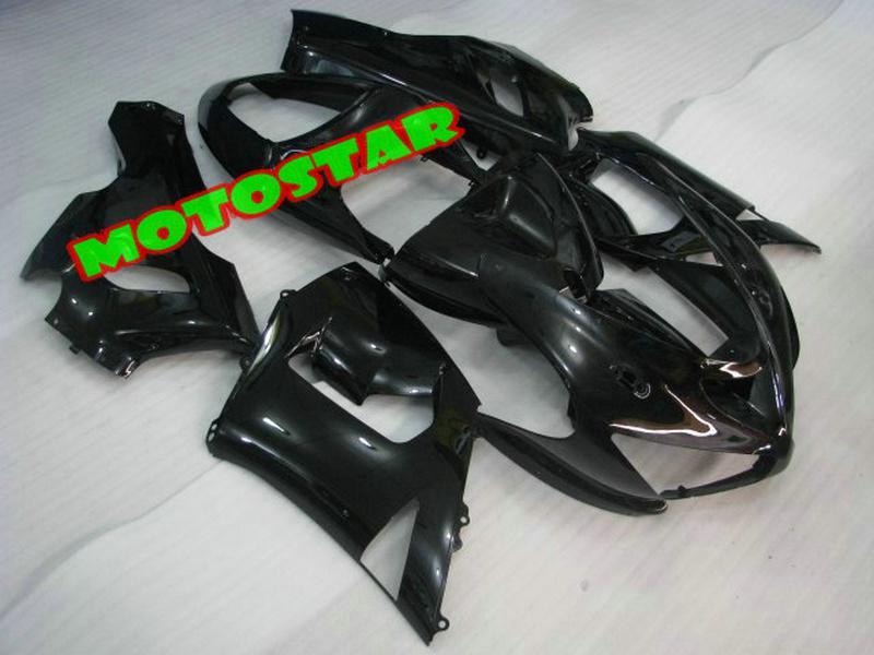 All Black bodywork fairing kit FOR Kawasaki Ninja ZX6R 636 ZX-6R 2005 2006 05 06 ZX 6R 05-06