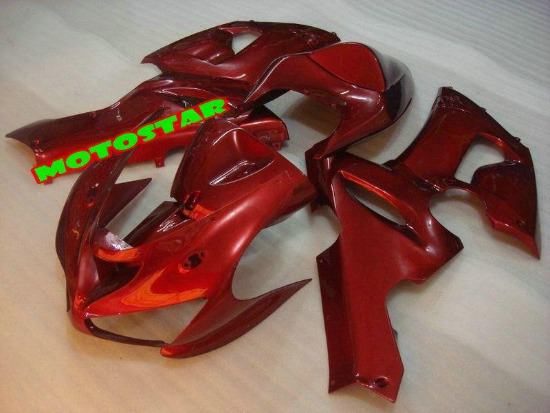 Free shipping All red 2005 2006 KAWASAKI Ninja ZX6R 636 ZX-6R 05 06 ZX 6R 05-06 full fairings kit