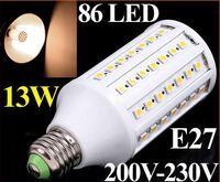 Wholesale E27 Corn Led Bulb 13w - 1550LM 200V-230V 13W E27 LED Lamp 86 SMD 5050 LED Corn Light LED Bulb Lamp Lighting Warm White free