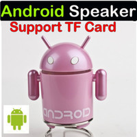 Wholesale Google Android Computer - Google Android Robot Mini Speaker w  USB Cable for Tablet PC Notebook Mobile Phone 50pcs free by DHL