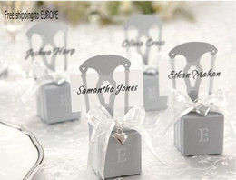 Wholesale Silver Chair Wedding Favor - 250PCS Wedding Miniature silver chair favor boxes FB2022 Free shipping to Europe Factory direct sale