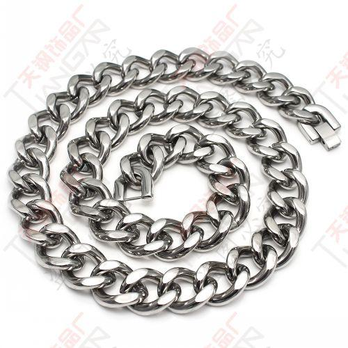 150g charm&shiny silver men's heavy&huge Stainless steel 14mm Cuba Chain Necklace 23.6''for gifts