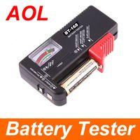 Wholesale Universal Battery Checker - Battery Tester Universal Handheld battery Volt checker tester AA C D 1.5V 9V Button BT-168 black