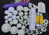 Wholesale Cake Tools 18 Sets - 18 Sets plunger Cutter Embosser Fondant Flower Cake Decorating Sugarcraft tool Bakeware Moulds