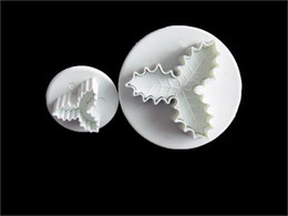 $enCountryForm.capitalKeyWord Canada - 2PCS Cake decorating cutter fondant sugarcraft plunger tool Holly Leaf Paste