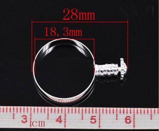 Hot Koop 60 stks Ringen Charm Bead Fit Europees Glas / Crystal Bead Grootte 7,8,9 Met schroef