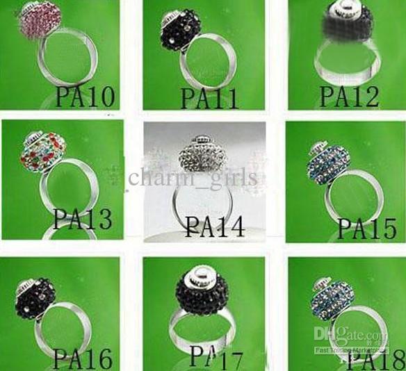 Hot Sale 60pcs Ringar Charm Bead Passform European Glass / Crystal Bead Storlek 7,8,00 med skruv
