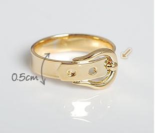Best match mixed color gold & silver belt belt buckle ring 30pcs