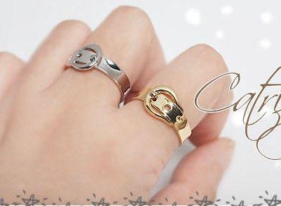 Beste Match Mixed Color Gold zilveren riem gesp ring 30 stks
